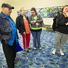 Irelys Martinez talks Tuesday morning at the Springfield-Branson National Airport about what it's like to see her parents after Hurricane Maria hit their island of Puerto Rico. From the left: Raul Martinez and Oraida Muõz, Irelys' father and mother and Irelys' daughter, Syleris Gwin Martinez. <br /> Globe | Laurie Sisk
