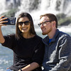 Jenna Chapman and her husband Brandon Chapman, both of Fort Worth, Texas, take a selfie to document a trip to Grand Falls on Tuesday afternoon.<br /> Globe | Laurie Sisk