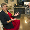 Maria Caban talks about her concerns for family in Puerto Rico as her sister-in-law, Aura Caban looks on last week at Cooper's Point Landing.<br /> Globe | Laurie Sisk