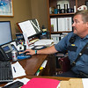 Wyandotte Nation Police Chief Kendal Murphy works in his office last week at the department.<br /> Globe | Laurie Sisk
