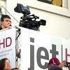 JET cameraman xx xxx works Joplin's game against Hillcrest last Friday at Junge Stadium.<br /> Globe | Laurie Sisk