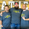 Jerry Uhlhorn, left and Ricky Sherrill, right, join The Light Pastor Andrew Morrill as Uhlhorn and Sherill prepare to depart with others to Las Vegas to minister to those affected by the recent mass shooting. Morill hopes to join them at a later date.<br /> Globe | Laurie Sisk