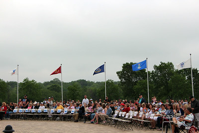 HALEE HEIRONIMUS / GAZETTE Thousands of people gathered Sunday afternoon at the Ohio Western Reserve National Cemetery program.