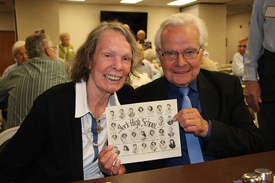 HALEE HEIRONIMUS / GAZETTE  John Kraemer, class of 1953, was an exchange student from Germany at York High School for one year. He is pictured with his wife, Gunhilo. The Kraemer's live in Berlin, Germany.