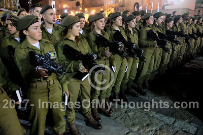 IDF Mixed Gender Swearing In Ceremony in Jerusalem, Israel