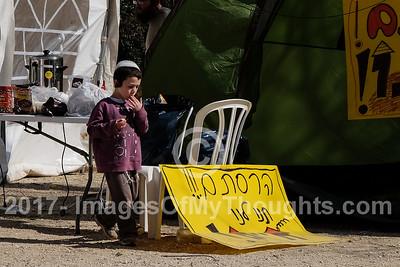 Amona Evacuees Tent Encampment in Jerusalem, Israel
