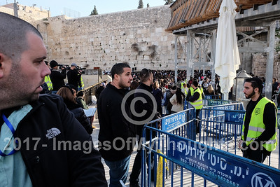 1st of Hebrew Month Adar at the Western Wall in Jerusalem, Israel