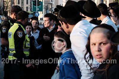 Ultra Orthodox Jews Protest Draft in Jerusalem, Israel