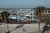 A view of the Tel Aviv marina and Gordon Pool at Gordon Beach in Tel Aviv