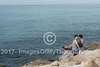 A young couple on the Tel Aviv Mediterranean beach front.