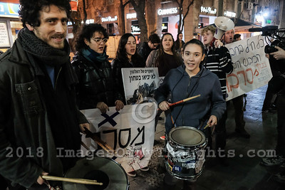IDF Enlistment Refusal Rally in Jerusalem, Israel