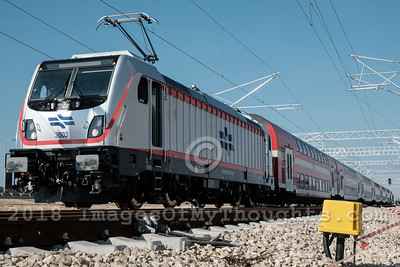 Tel Aviv Jerusalem Fast Train Test Run in Modiin, Israel