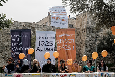 International Women's Day in Jerusalem, Israel