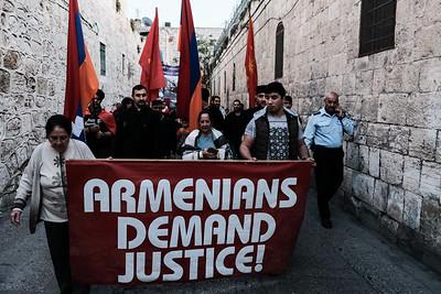 Armenian Genocide Commemorated in Jerusalem, Israel