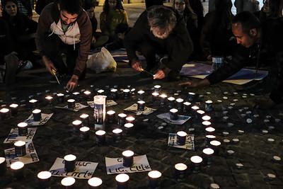 Flood Victims Candlelight Vigil in Jerusalem, Israel