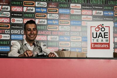 Giro d'Italia 2018 UAE Team Press Conference in Jerusalem, Israel