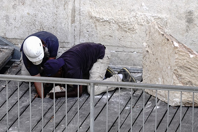 Huge Boulder Dislodges from Western Wall in Jerusalem, Israel