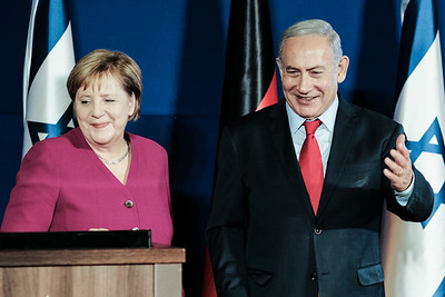 Germany's Chancellor Merkel Visits Israel