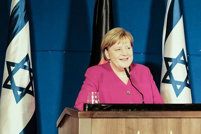 Germany's Chancellor Merkel Visits Israel
