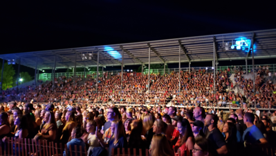 Aaron Josefczyk / Gazette The crowd watches Jake Owen perform at the Medina County Fair.