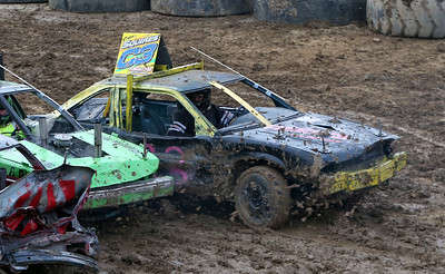 Elyria's Cary Squires won the demolition derby. AARON JOSEFCZYK / GAZETTE