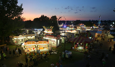 The sun sets on another successful fair. AARON JOSEFCZYK / GAZETTE