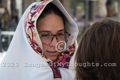 Phylacteries Wrap Stand for Women in Jerusalem