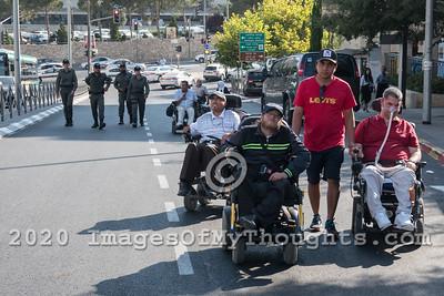 Handicapped Demonstrations in Jerusalem