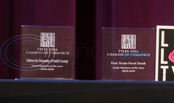 The Large Business of the Year award went to the East Texas Food Bank and the Small Business of the Year honor went to Habitat for Humanity of Smith County at the 2020 Tyler Area Chamber of Commerce Annual Awards Meeting held at the Crosswalk Center in Tyler on Thursday, Nov. 5, 2020.