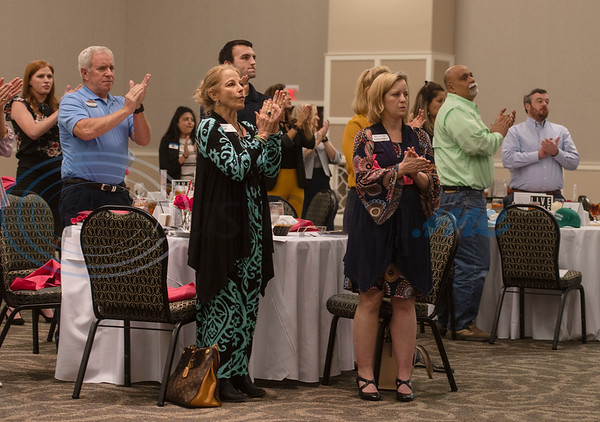Audience members applaud at the 2020 Tyler Area Chamber of Commerce Annual Awards Meeting held at the Crosswalk Center in Tyler on Thursday, Nov. 5, 2020.