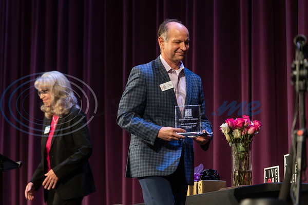 Dennis Cullinane, CEO of the East Texas Food Bank, receives the award for Large Business of the Year at the 2020 Tyler Area Chamber of Commerce Annual Awards Meeting held at the Crosswalk Center in Tyler on Thursday, Nov. 5, 2020.