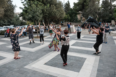 COVID-19: DAILY LIFE: Folk Dancing in Jerusalem