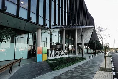 Microsoft R&D Center in Herzliya Industrial Zone, Israel.