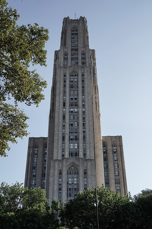 The Cathedral of Learning, a 42 story skyscraper, a local and national landmark, is the centerpiece of the University of Pittsburgh in the Oakland neighborhood of the city. This late Gothic Revival Cathedral is the tallest educational building in the western hemisphere reaching 535 feet.