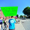 KRISTOPHER RADDER — BRATTLEBORO REFORMER<br /> Around a dozen people participated in the 3rd annual 22-4-22 March on Sunday, July 8, 2018. The march is to raise awareness about the 22 military veterans that on average commit suicide daily. The march started at the Brattleboro Union High School to the Putney Co-Op and back to the high school. The event is put on by 1Lt. Lauren Mabie, a native of Brattleboro, had the idea to start the march while she was a sophomore at American University. She saw 22 American flags on the campus quad and asked a friend who was a veteran if he knew why they were there.