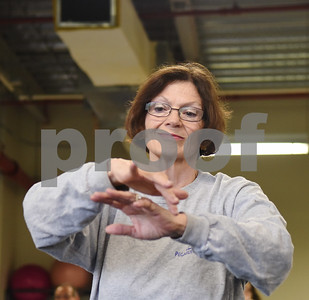 Linda Klotz of Tyler practices tai chi at the University of Texas at Tyler Tuesday Feb. 21, 2017. The class started as a three month study on the effects of tai chi on patients with peripheral neuropathy and is continued as a community service. Ballard created the study.  (Sarah A. Miller/Tyler Morning Telegraph)