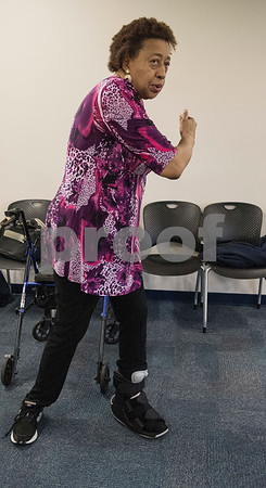 Susie Square of Tyler practices tai chi at the University of Texas at Tyler Tuesday Feb. 21, 2017. The class started as a three month study on the effects of tai chi on patients with peripheral neuropathy and is continued as a community service.   (Sarah A. Miller/Tyler Morning Telegraph)