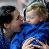 "Chloe Couvreux makes a dragon face to Sky Couvreux, 17 months, during Story Time at the Boulder Public Library in Boulder, Colorado February 23, 2012. CAMERA/MARK LEFFINGWELL<br /> <br /> <br /> See video of Story Time at  <a href=""http://www.dailycamera.com"">http://www.dailycamera.com</a>"