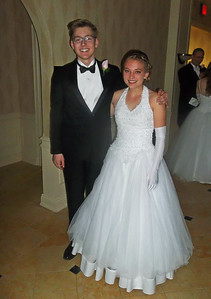 NIKKI RHOADES / GAZETTE Escort Gabe Wasylko is shown with honoree Abby Kraft on Saturday night during the 58th Spring Leadership Ball held at Weymouth Country Club.