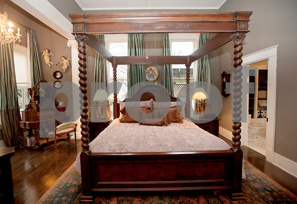 photo by Sarah A. Miller/Tyler Morning Telegraph  The master bedroom pictured here inside the Wiley-Kesler House will be on display during the Historic Tyler on Tour home tour Saturday March 28 and Sunday March 29. The historic home was built in 1890.