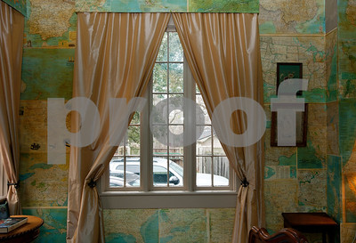 photo by Sarah A. Miller/Tyler Morning Telegraph  A room covered in wall-to-wall National Geographic maps is inside the Wiley-Kesler House, which is part of the Historic Tyler on Tour home tour Saturday March 28 and Sunday March 29. The historic home was built in 1890.