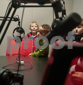 August Henninger, 8, and Jordan Ware, 8, visit the sound room while on a tour of the Innovation Pipeline that was part of Discovery Science Place's Make Structures engineering-themed spring break camp on Monday March 12, 2018.  (Sarah A. Miller/Tyler Morning Telegraph)