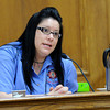 "Raszynski Trial010.JPG Stephanie Harp, of the Boulder County Sheriff Communications office, gives her testimony about the phone call received by Adam Raszynski the night of the crime scene during the Adam Raszynski trial on Wednesday, March 14, at the Boulder County Justice Center in Boulder. Rasynski is accused of stomping his mother, Rita Redford, to death after she shot him five times. For more photos of the trial go to  <a href=""http://www.dailycamera.com"">http://www.dailycamera.com</a><br /> Jeremy Papasso/ Camera"