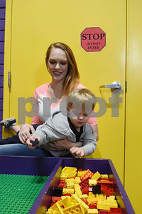 Laura Mastiani of Balimore, Maryland, holds her son Sampson, 1, play at the Discovery Science Place in downtown Tyler Tuesday March 14, 2017.  (Sarah A. Miller/Tyler Morning Telegraph)