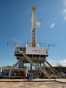 People tour the Norseman II Series Scan Titan drilling rig on Monday, March 18, 2019 at the Scandrill rig-up yard in Tyler.   (Sarah A. Miller/Tyler Morning Telegraph)