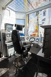 The driller's cabin of the Norseman II Series Scan Titan drilling rig is pictured during a public tour on Monday, March 18, 2019 at the Scandrill rig-up yard in Tyler.   (Sarah A. Miller/Tyler Morning Telegraph)