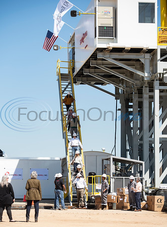 People tour the newly assembled Norseman II Series Scan Titan drilling rig on Monday, March 18, 2019 at the Scandrill rig-up yard in Tyler.   (Sarah A. Miller/Tyler Morning Telegraph)