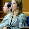"Defense attorney Kathryn Herold sits next to Adam Raszynski while listening to defense attorney Seth Temin examine a defense council witness on Tuesday, March 20, during the second-degree murder trial of Adam Raszynski at the Boulder County Justice Center in Boulder. Raszynski is on trial for the murder of his mother Rita Redford. For more photos of the trial go to  <a href=""http://www.dailycamera.com"">http://www.dailycamera.com</a><br /> Jeremy Papasso/ Camera"