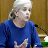 Bonnie Dase testifies for the defense in Adam Raszynski's trial at the Boulder County Justice Center in Boulder, Colorado March 20, 2012.  Raszynski is charged with second degree murder in the death of his mother Rita Redford. CAMERA/MARK LEFFINGWELL