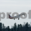 An American Eagle flight takes off at Tyler Pounds Regional Airport in Tyler, Texas, on Monday, Feb. 5, 2018. 5,300 feet of the new runway has been completed, with the final 3,000 feet still under construction and expected to be completed this fall. (Chelsea Purgahn/Tyler Morning Telegraph)